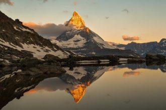 ski chalet in zermatt matterhorn switzerland