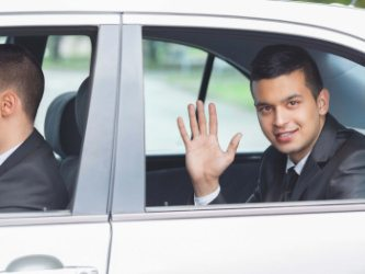 young rich businessman chauffeur service Burlington