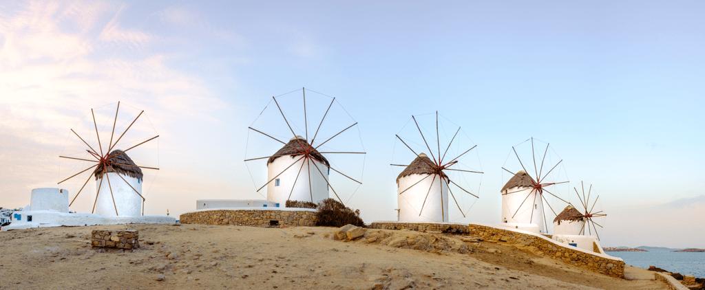 Windmills in Mykonos Greece - AssistAnt