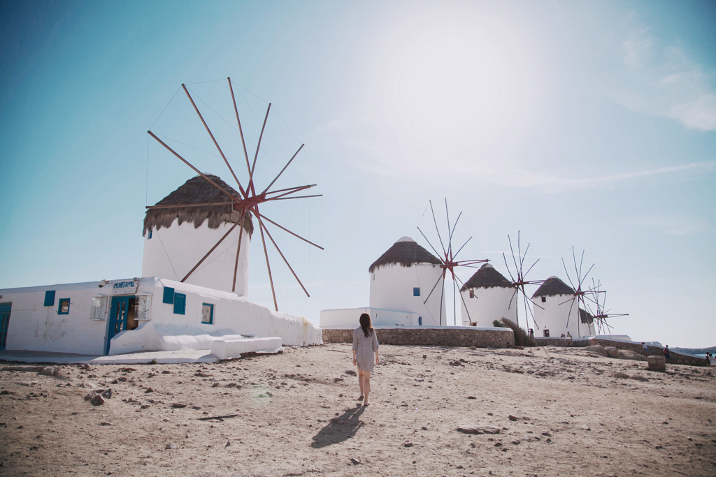 Greece Mykonos Windmills - AssistAnt Travel