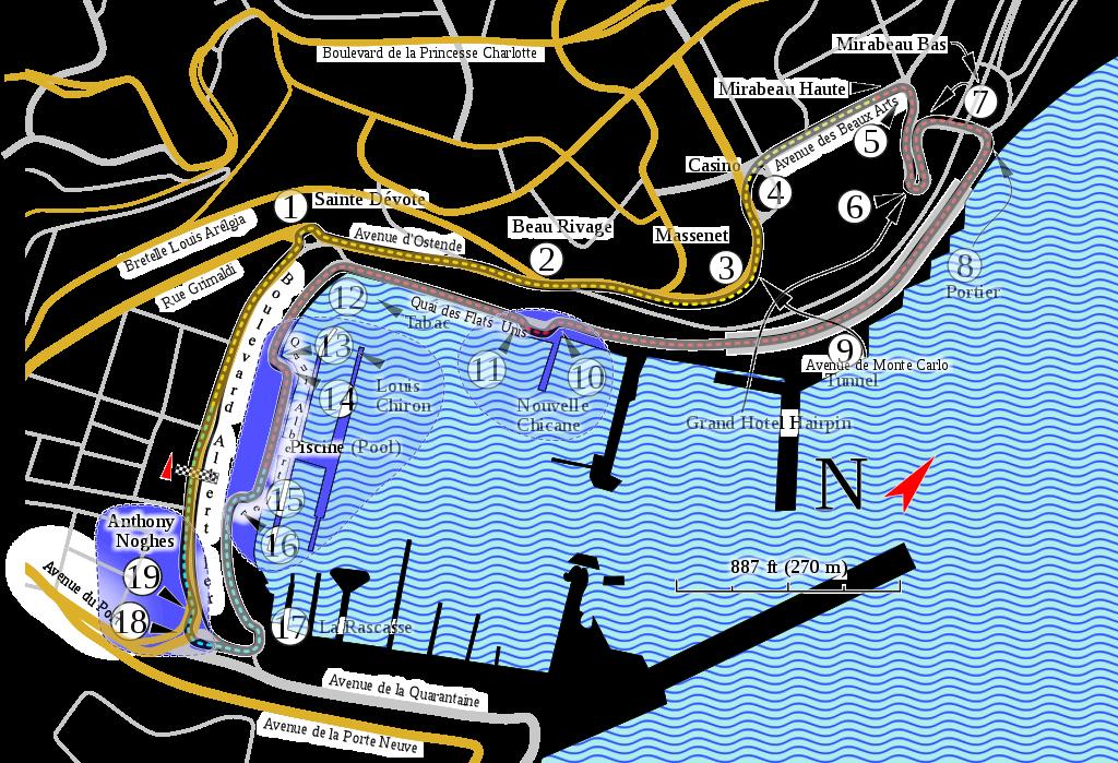 Monte Carlo Formula 1 track - AssistAnt Travel