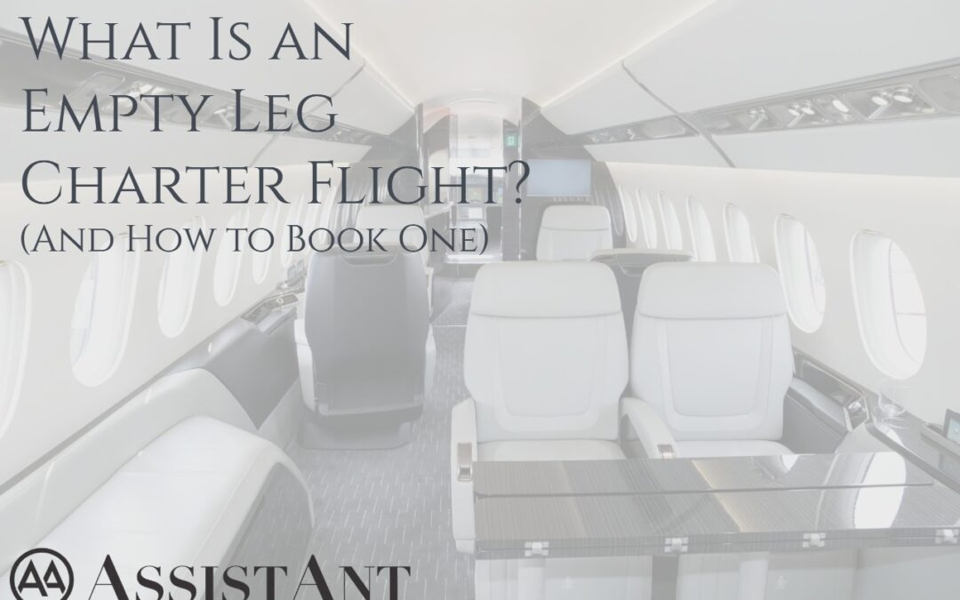 What Is an Empty Leg Charter Flight? (And How to Book One)