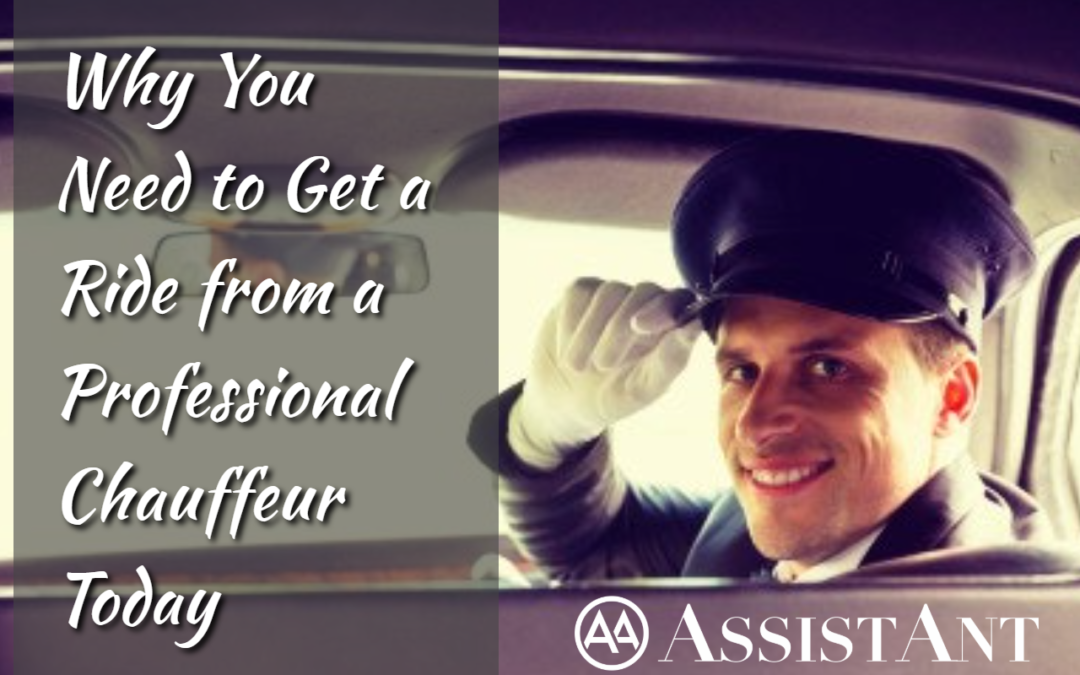 Why You Need to Get a Ride from a Professional Chauffeur Today - AssistAnt