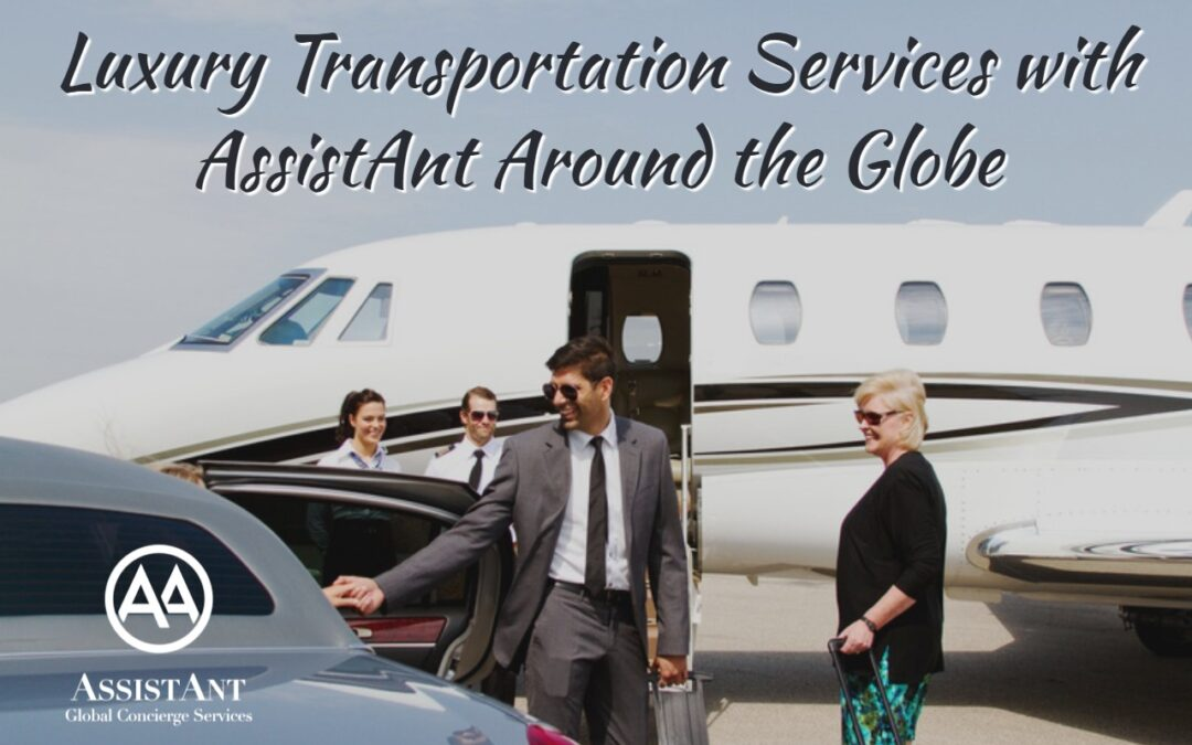 Luxury Transportation Services with AssistAnt Around the Globe